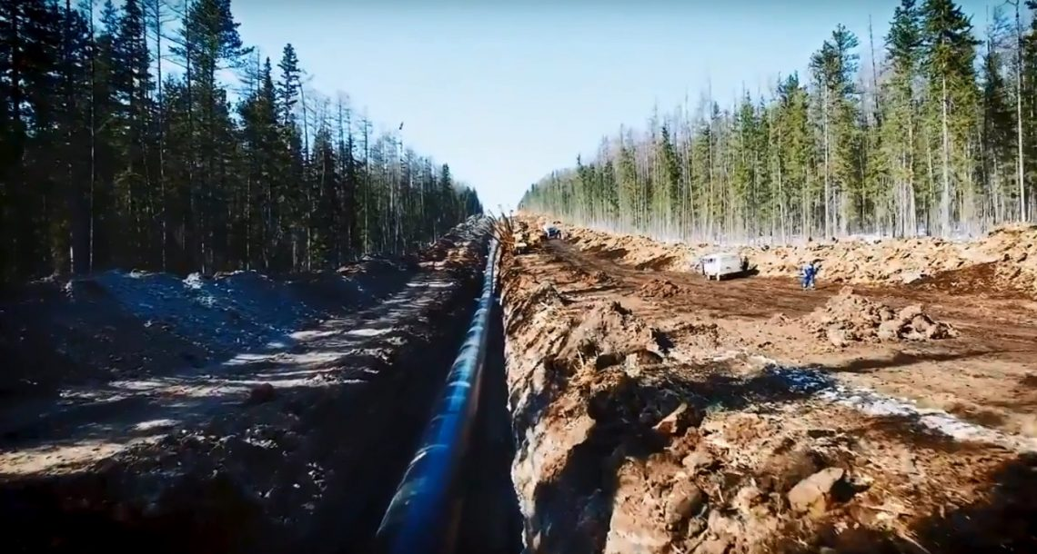 Gazprom: China pipeline to be ready three months early