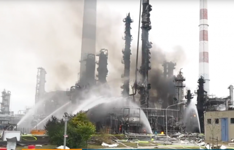Staff hurt in German refinery blast