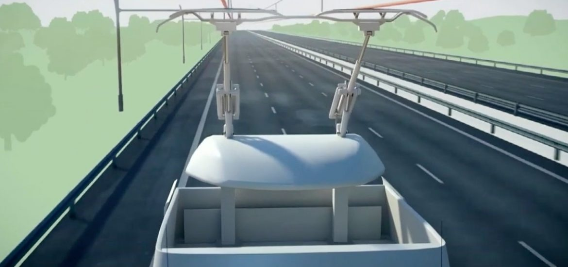 Germany opens electrified road for hybrid lorries