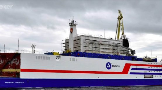 Russia's floating nuclear plant docks in Pevek